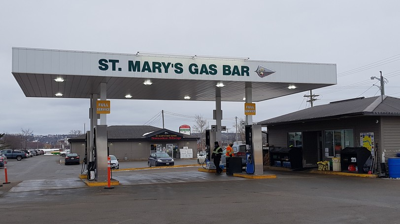 St. Mary's First Nations gas bar.