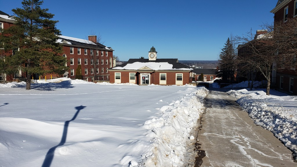 The Fredericton campus of the University of New Brunswick has been largely deserted during pandemic.