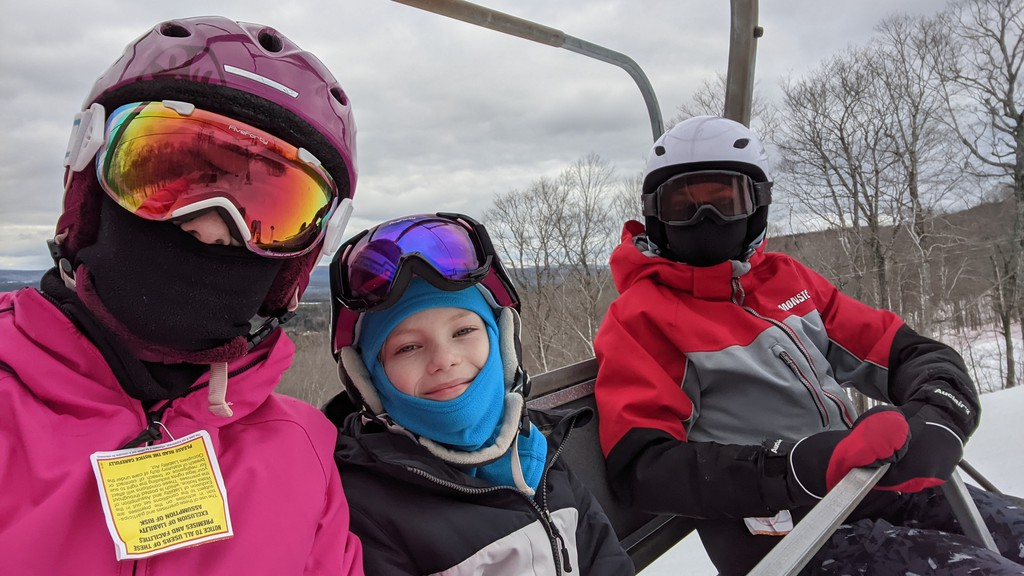 A day on the slopes was a welcome trip for the Hanson Family.