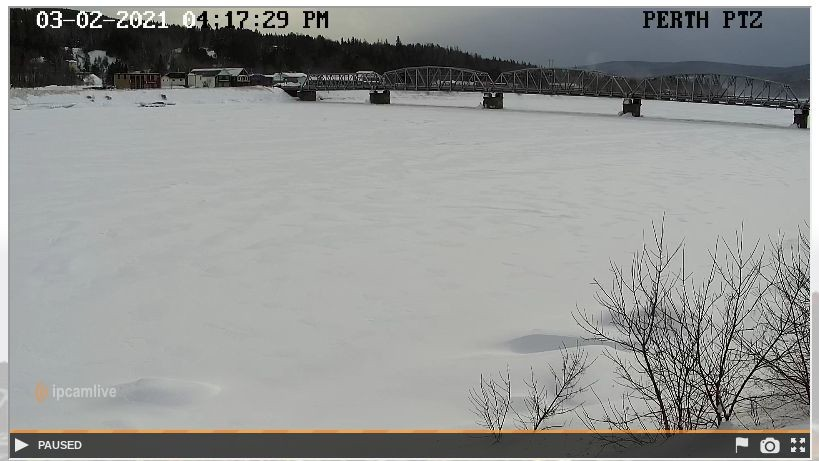 Perth-Andover's river camera is operational. The camera, located on the west bank of the St. John River north of the Perth-Andover bridge, provides continuous updates on water levels in thecommunity.