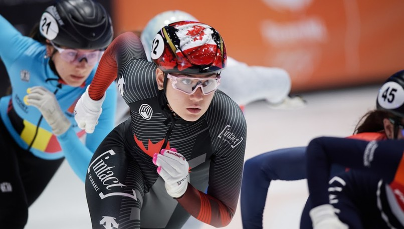 Moncton's Courtney Sarault will compete in the Canadian short track speed skating championships between Aug. 21 and 29in Montreal.