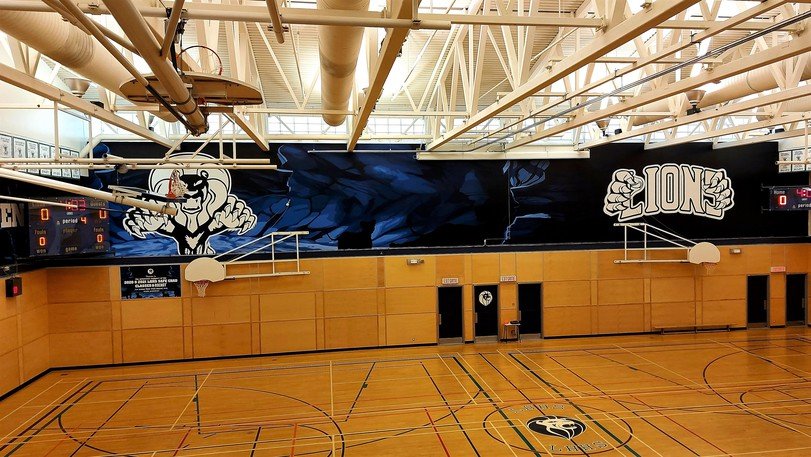 An empty Leo Hayes High School gymnasium. Sports groups that use school gyms are worried they'll lose another year to COVID after the province announced as part of its back-to-school rules that no outside groups will be allowed access to their facilities.