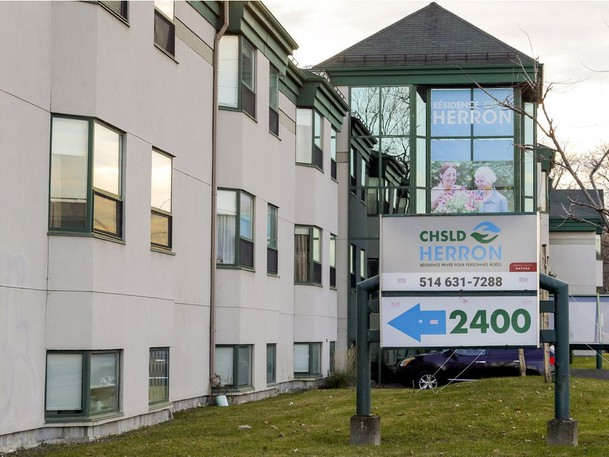 CHSLD Herron, the seniors residence where at least 38 residents died during the COVID-19 pandemic, in Dorval west of Montreal Monday November 9, 2020.
