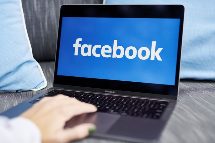 The Facebook logo on a laptop computer on Oct. 7, 2020.