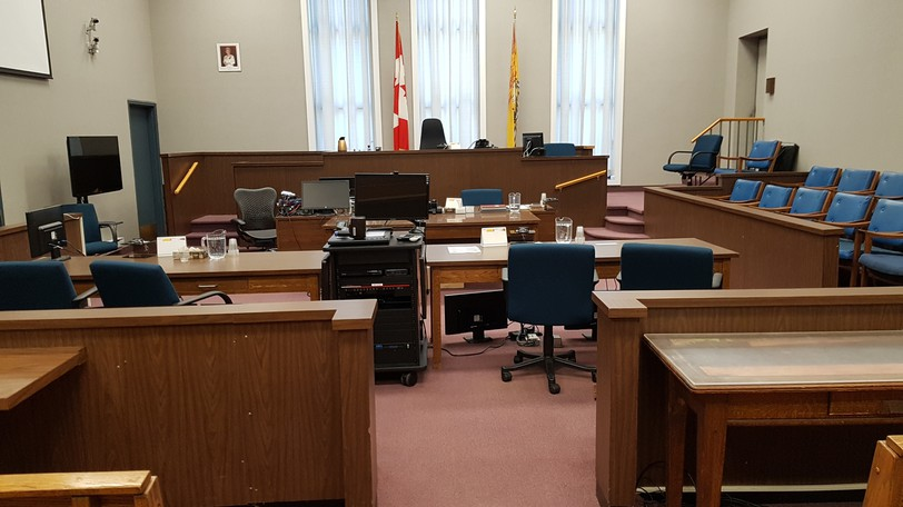 Courtroom No. 5 in the Justice Building in Fredericton.