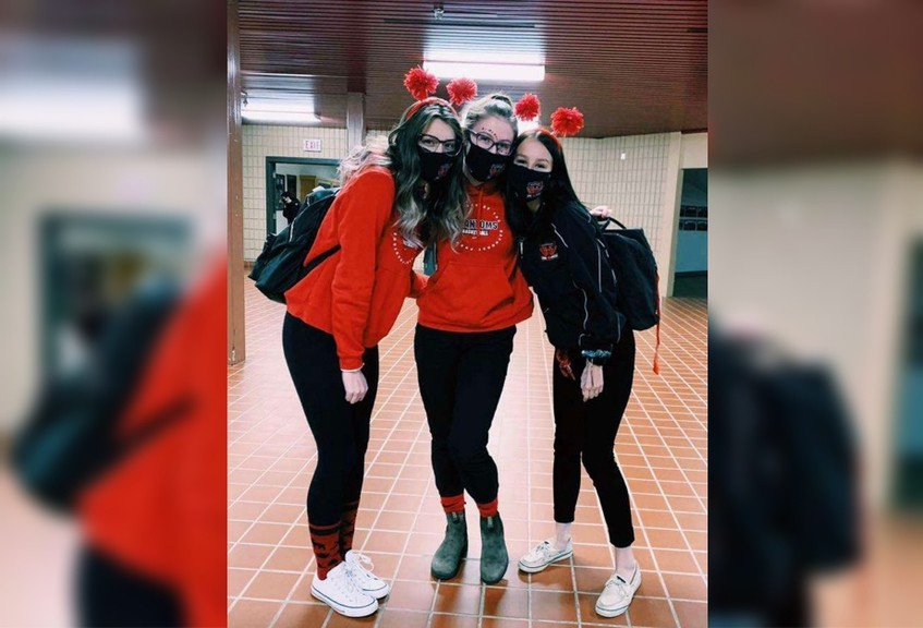 Bathurst High School parent and community volunteer Calvin Sisk is hoping parents and community members can host a prom for the Bathurst High School class of 2021. Pictured are Bathurst High School Grade 12 students from left: Olivia Kenny, Sierra Spragg and Breanna Lee.