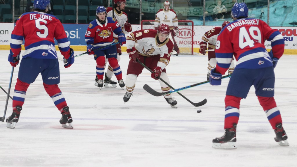 Acadie-Bathurst Titan centre Dylan Andrews is shown during Friday night's game against the Moncton Wildcats on home ice at the K.C. Irving Regional Centre. The Titan won 3-2.