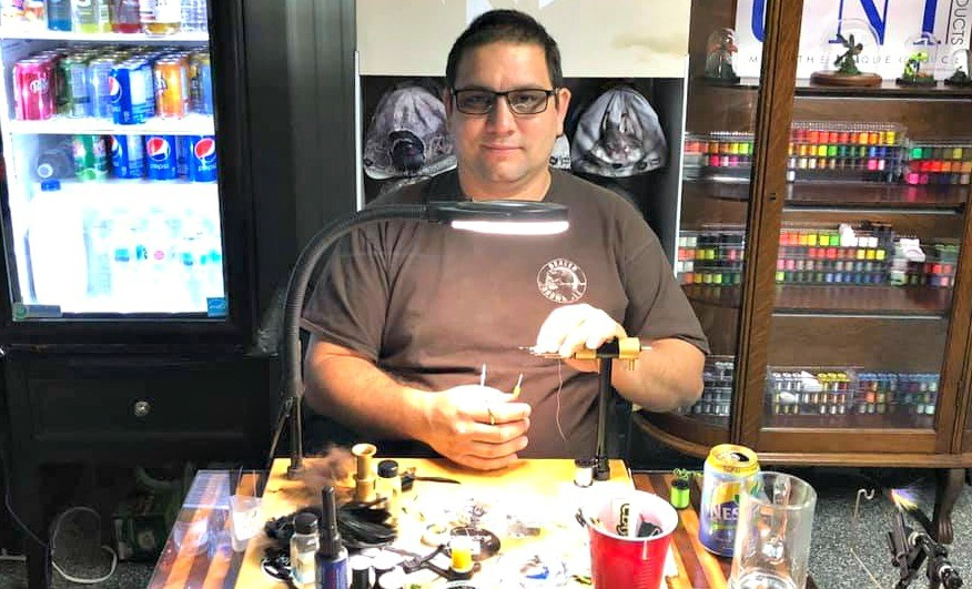 Balmoral's Terry Landry took top honours in the Norvise 2021 March Madness fly-tying contest, after finishing second in the competition last year.