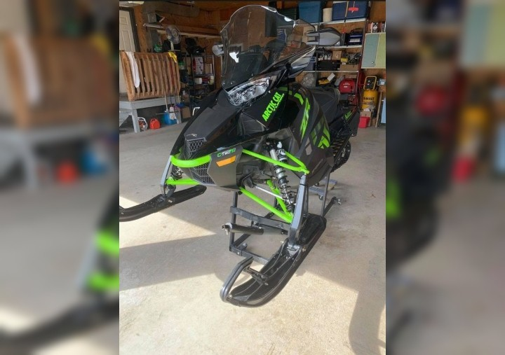 The Bathurst Police Force is seeking the public's help to find a stolen black and green 2017 Arctic Cat ZR 9000 snowmobile with New Brunswick license plate XZ5466.