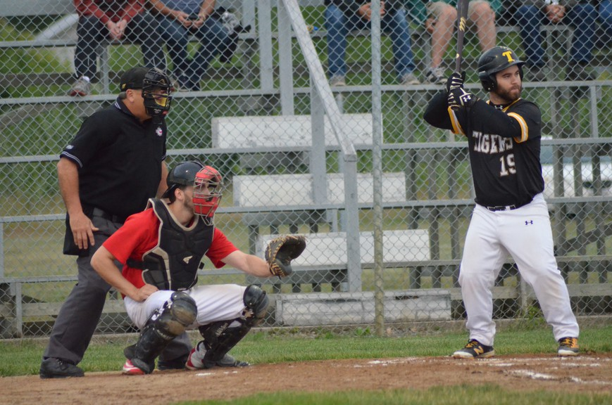 Tyler Hilchey prepares to swing at a pitch for the Chatham Head Tigers during the 2019 Miramichi Valley Baseball League season. League officials plan to return to the field this summer, pending COVID-19 restrictions and the availability of umpires.