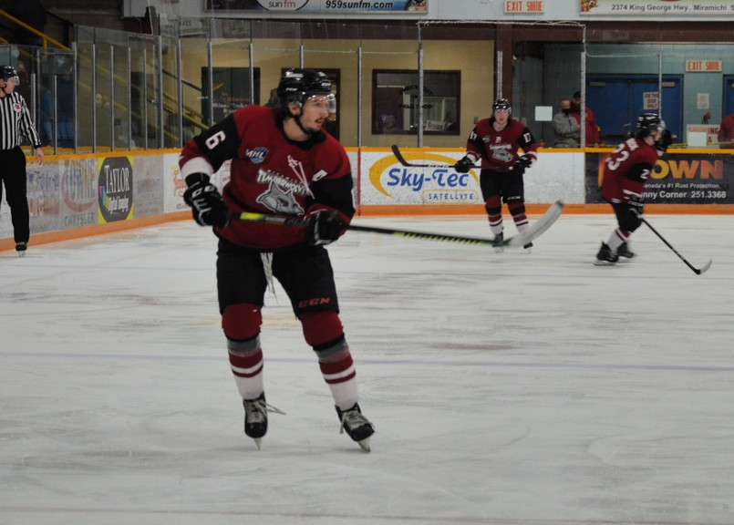 Miramichi Timberwolves defenceman Jordan Spadafore was named one of the Maritime Junior Hockey League's players of the week for the week ending April 11.