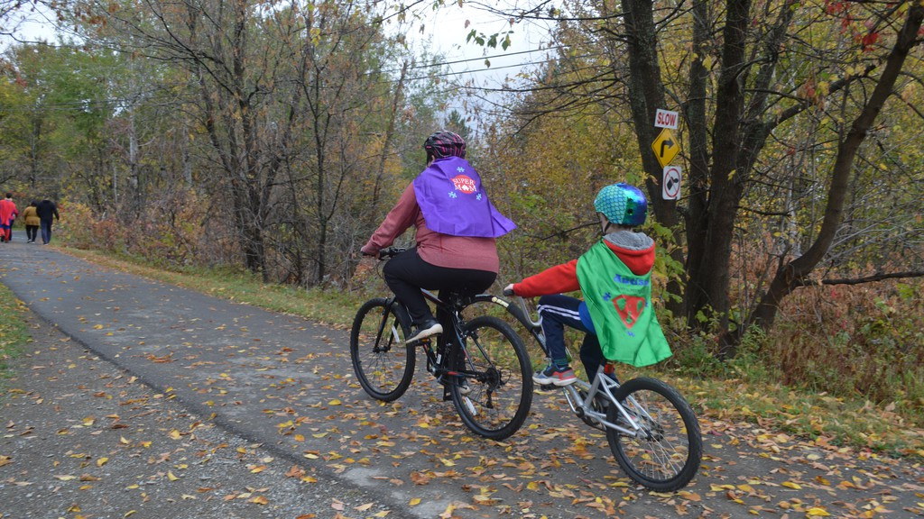 Cyclists head out on the Sentier NB Trail in Perth-Andover in this file photo from an event held last year by the Upper Valley Autism Resource Centre. This month, Perth-Andover council approved the continued joint use of the trail between the village and Grand Falls.