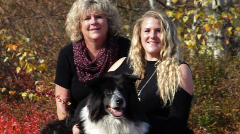 Patty Borthwick is pictured here with Hillary Hooper and her dog Blue in this file photo.