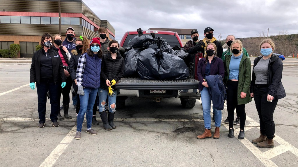 Members of the local Rotaract and Interact Clubs took part in a national clean up on April 18.