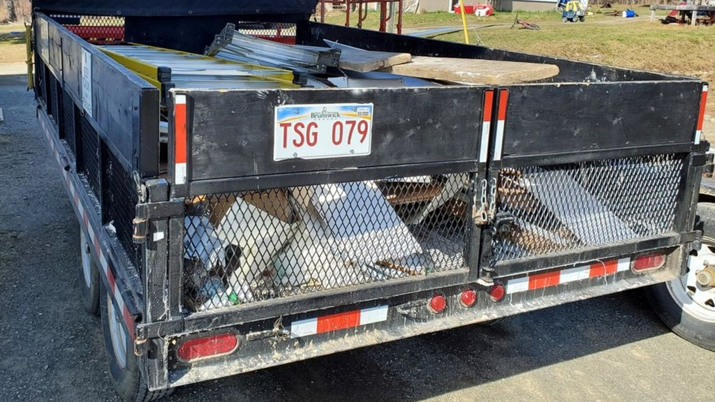 The Western Valley Region RCMP is searching for this trailer, which was stolen from the parking lot of a church in Lower Brighton between April 18 and 19.