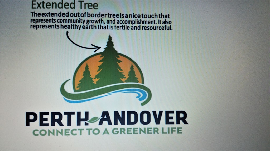 Perth-Andover's new slogan and logo reflect its goal to be a greener community. The village was recently recognized for its efforts with an Energy Efficiency Excellence Award from NB Power.