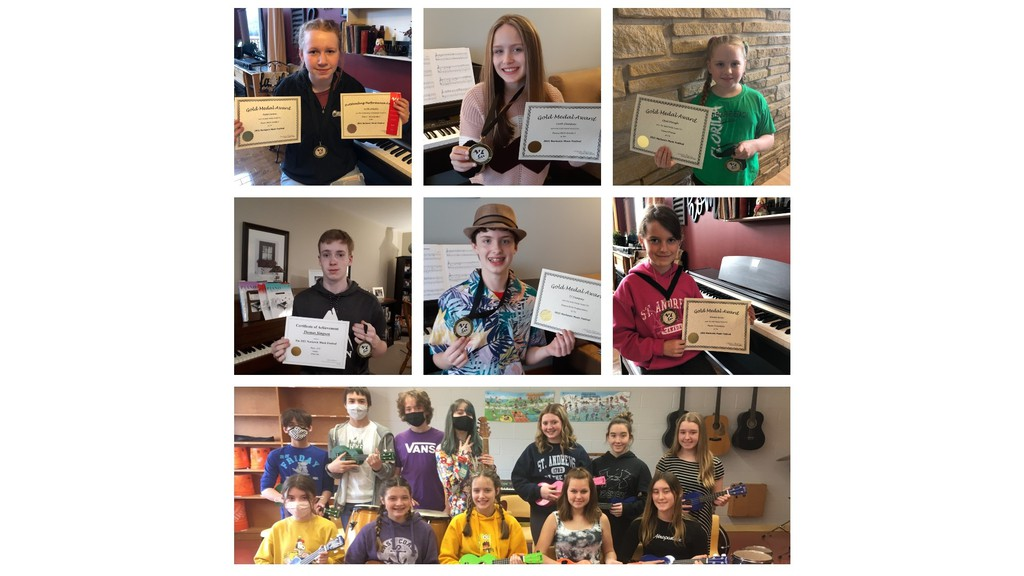 A number of participants were awarded gold and outstanding performance awards for their performances in the Nackawic Music Festival this year.