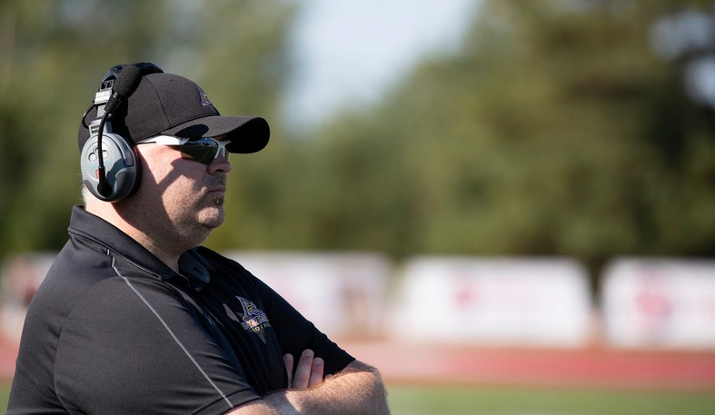 Mount Allison Mounties football head coach Peter Fraser.