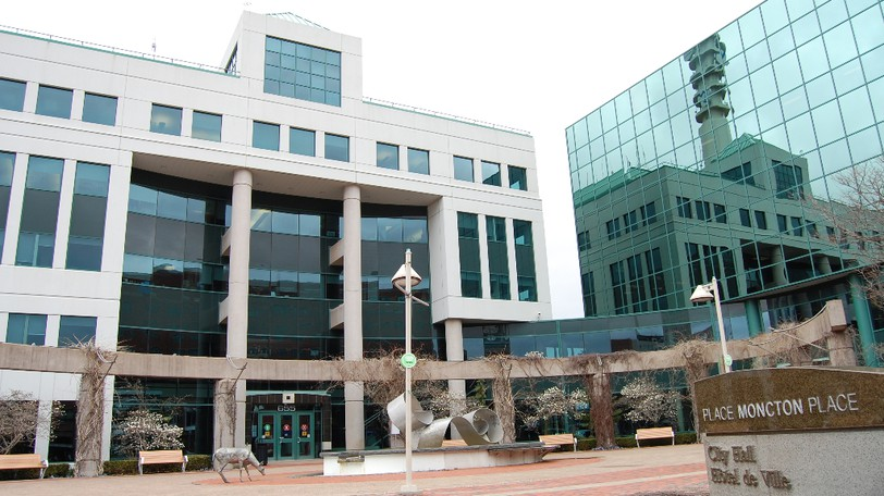 """Moncton city hall is shown in a file photo. The city may reduce the tax rate to offset """"major assessment increases"""" anticipated as property sales drive up home prices."""