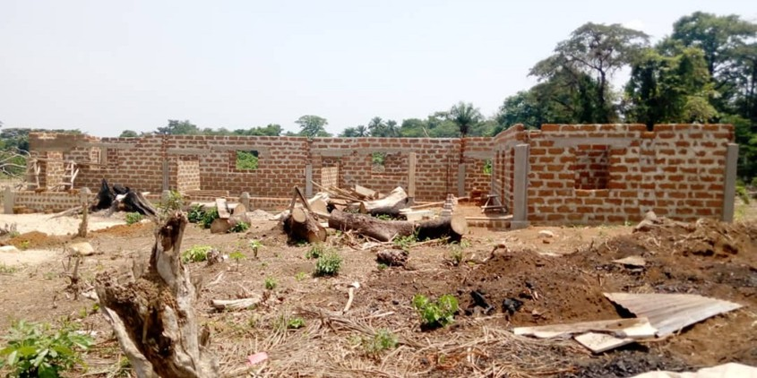 This is a photo of a half-finished school in Sierra Leone that Campbellton chemistry teacher David Gbongbor is trying to help finish through a fundraising campaign.