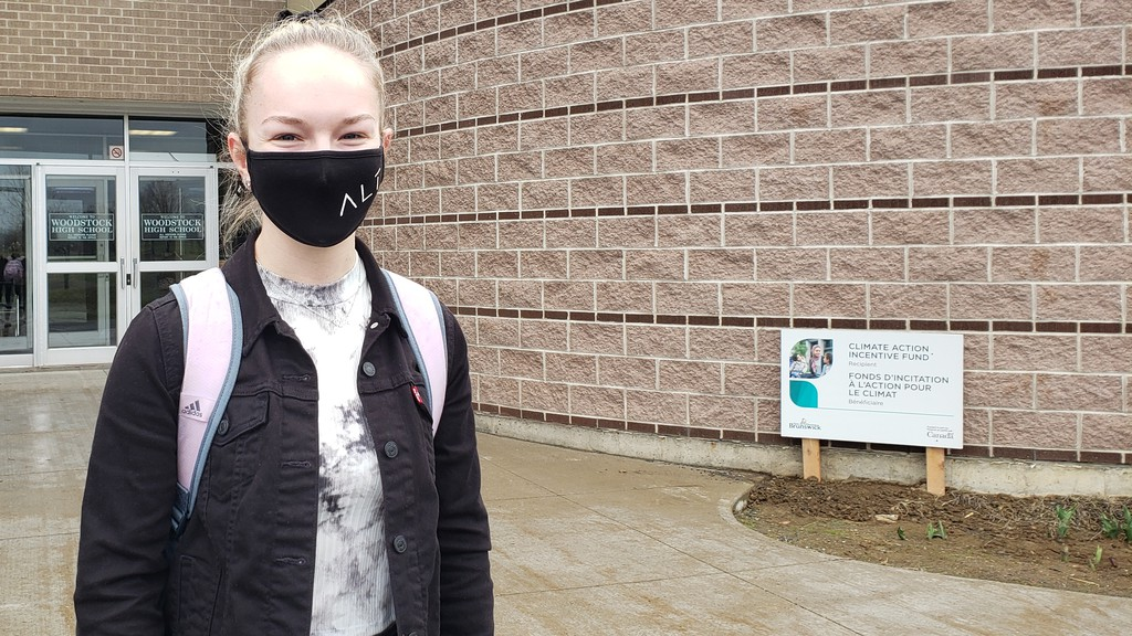 Riley Martin, a Woodstock High School grade 12 student, said she's OK with the part-time class routine.Premier Blaine Higgs' announcement that high school students would not return to full-time in-person learning this school year seems to have support from some students, parents and educators.