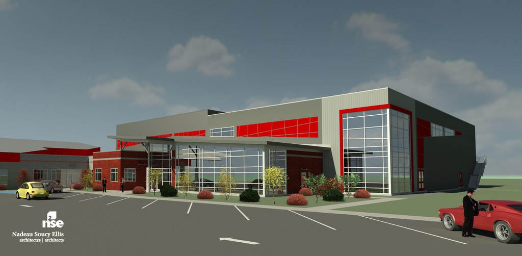 An artist's rendering of the Northern Carleton Civic Centre expansion.