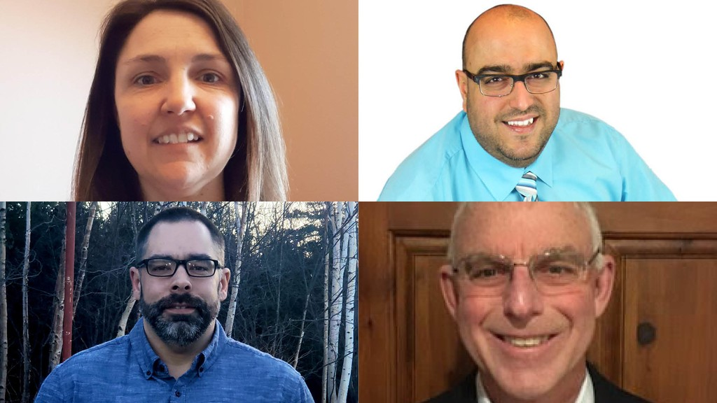 The Village of Pointe-Verte has five candidates running for four available seats on council.  Pictured top row from left: Council candidates Brigitte Guitard and Mario Mercier.  Bottom row: Candidates Sebastien Cormier and Ronnie Arseneau.  CandidateRoger Jean-Guy Guitard did not submit a photo by the publication deadline.