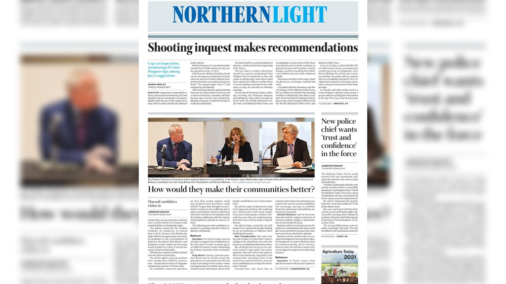 Pictured is the May 4 edition of The Northern Light.
