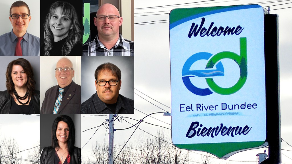 Eight candidates are seeking the four council seats in Eel River Dundee. Top, left left, James Beattie, Josée Doucet-Thériault, and Paul Imhoff. Middle, from left, Cindy Roy Bernard, Gilles Savoie, and Rhéal Savoie. Bottom, Peggy Savoie Leclair. Also running is Yvon Bujold.