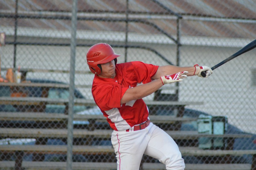 Riley Keoughan swings for the Chatham Molson Junior Ironmen during the 2019 season. The Ironmen, and at least four of their New Brunswick Junior Baseball League counterparts, will return to the field this summer after a one-year hiatus.