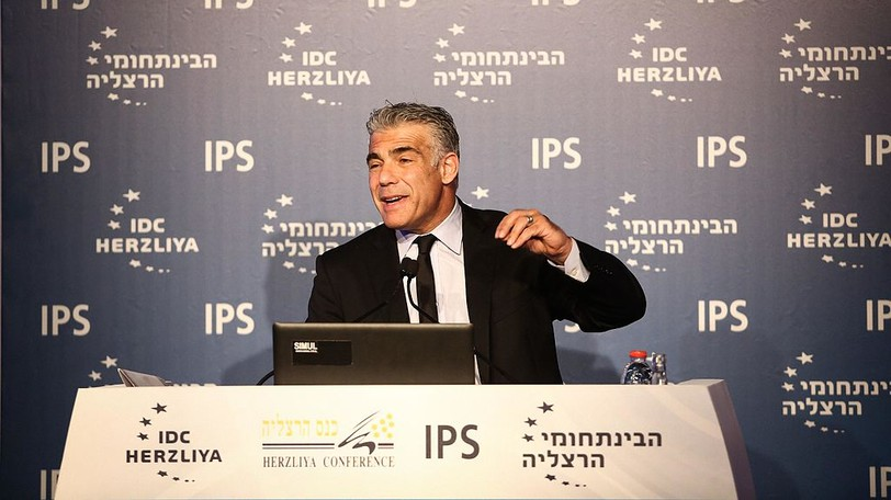 Yair Lapid, leader of Israel's centrist Yesh Atid party, is also the country's foreign minister.