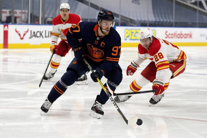 Edmonton Oilers centre Connor McDavid, shown here in this file photo, is a lock to represent Canada at the Beijing Olympics.