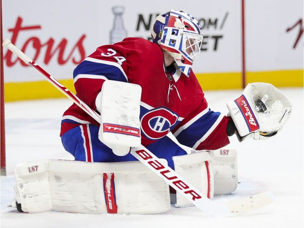 Jake Allen stopped all 15 shots he faced in 30 minutes of action, as the Montreal Canadiens beat the Toronto Maple Leafs 5-2 on Monday night.