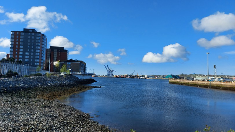 A view of the Saint John waterfront. The city should drop its property tax rate in response to rising assessments, writes out editorial board.