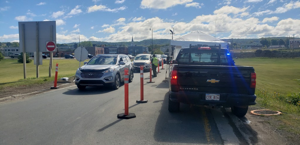 Checkpoints like this one at the JC Van Horne Bridge, as well as those in Flatlands/Matapedia and near Edmundston may soon be a thing of the past if enough New Brunswickers get vaccinated for COVID-19.