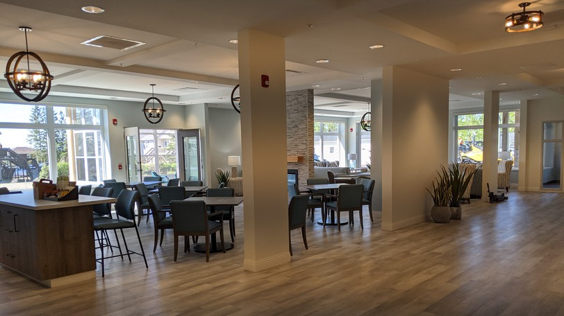 The main dining room of the new Albert House residential hospice on Pleasant Street. The hospice had its official opening on Thursday.