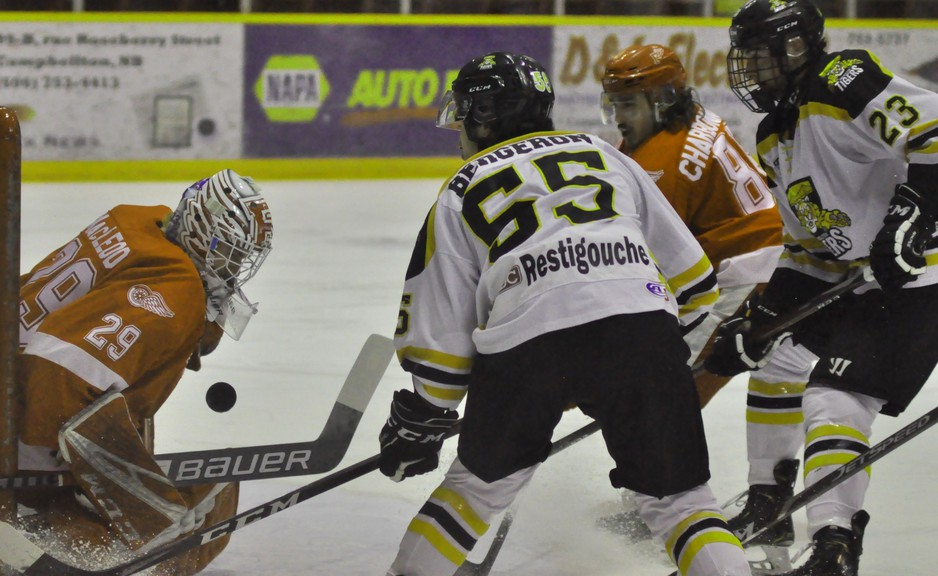 It's hoped that both Joakim Bergeron and Justin David (#23) will be mainstays with the Campbellton Junior A Tigers when the 2021-2022 Maritime Hockey League season starts this fall.