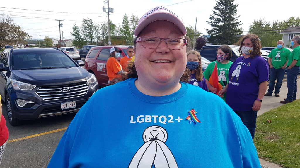 Tanya Cassidy, one of the organizers of the LGBTQ2+ walk at  Eel River Bar (Ugpi'Ganjig) First Nation to mark the start of Pride Month.
