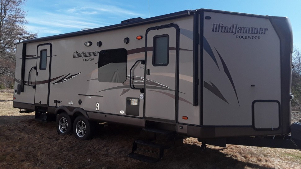 The Saint-Quentin RCMP are searching for this travel trailer stolen from Kedgwick, a community located 15 minutes outside of Saint-Quentin.
