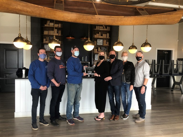 New Maritime Beer Company in Miramichi has received a Silver Shingle development award from the Greater Miramichi Regional Service Commission planning services branch.