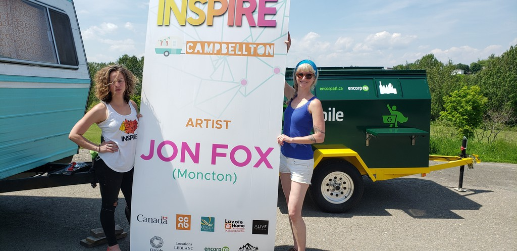 Lisa Griffin and Anička Senior of Festival Inspire arrived in Campbellton Monday where they and artist John Fox will spend about a week painting a mural on the wall of the Campbellton community college.