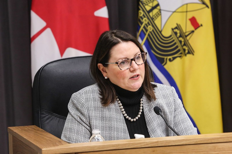 Dr. Jennifer Russell, New Brunswick chief medical officer of health, speaks at a news conference in this file photo. Public Health reported 13 new cases in the province Wednesday, including one in Zone 7, the Miramichi health region.