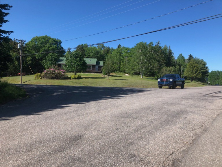 The intersection of Pickwauketand Norton Shore Road is seen in this submitted photo. Nick McTiernan raised safety concerns about visibility at the intersection with Hampton Council Tuesday night.