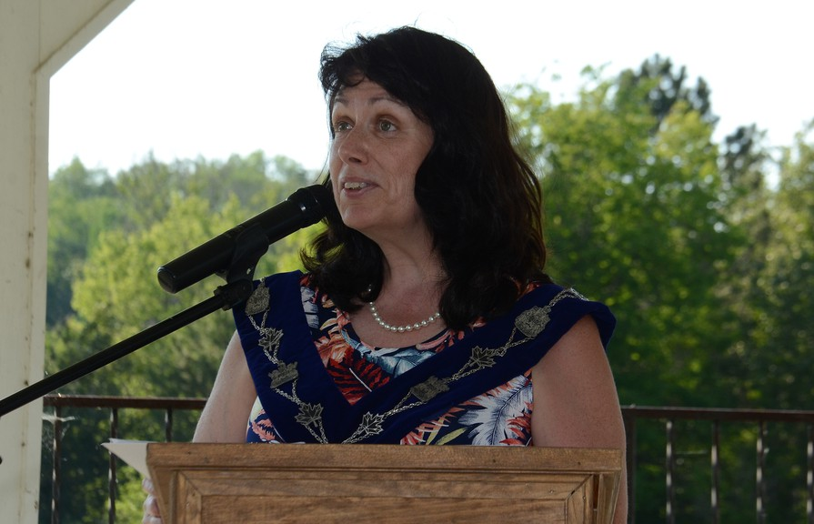 Mayor Marianne Bell encourged Perth-Andover's new village council to push for change and growth in the community after council members took the oath of office on Monday.
