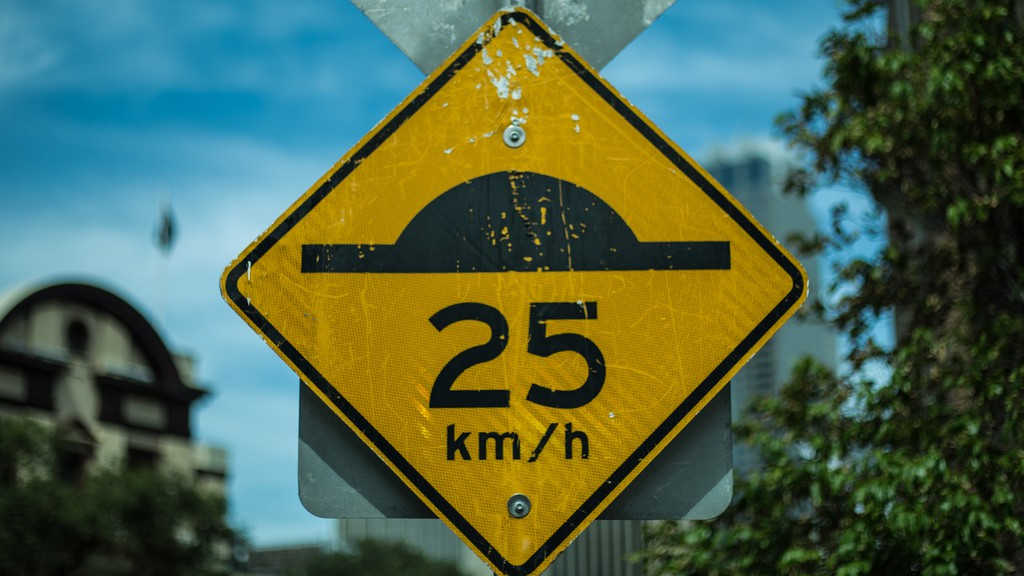 A speed limit sign in metric measurement. Bill Clarke this week grumbles about how the metric system doesn't make sense for use outside scientific settings.