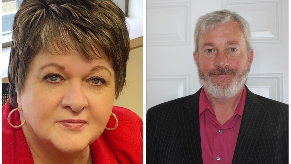 Peggy Doyle, left, and Derek Hutchison of Miramichi were officially named to the Horizon Health Network regional health authority board Friday.