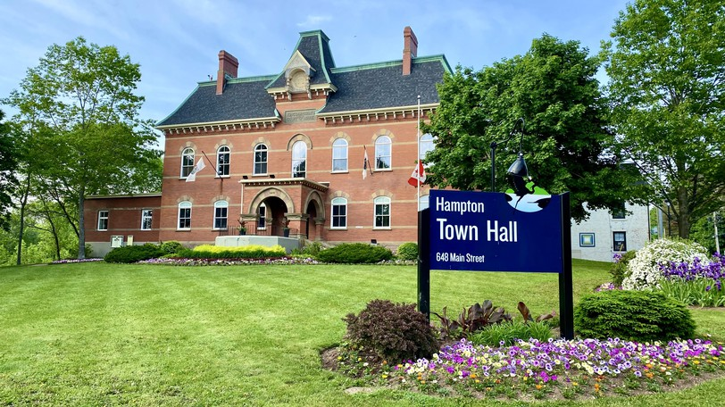 Hampton Town Hall is seen in this June 8, 2021 photo. Council unanimously approved a motion to mark Sept. 30, the National Day of Truth and Reconciliation, as a statutory holiday for town staff.
