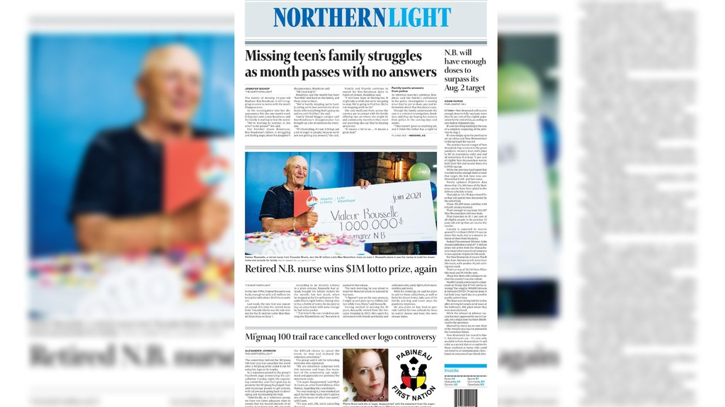 Pictured is the front page of the June 14 edition of The Northern Light.