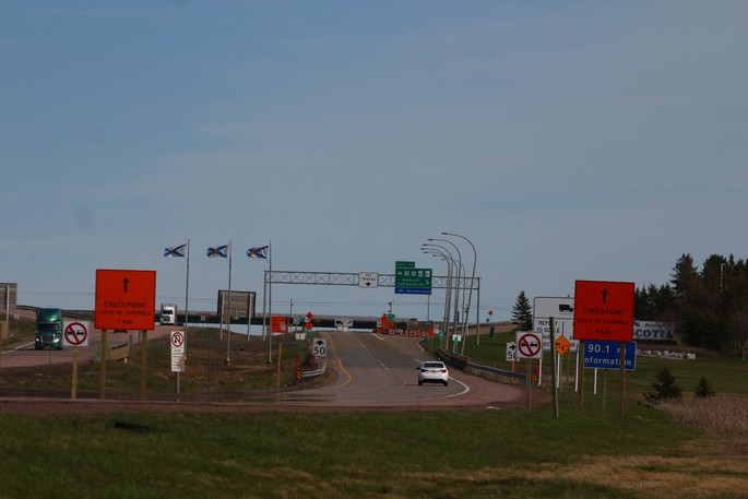 The Nova Scotia-New Brunswick border, as seen in early May.
