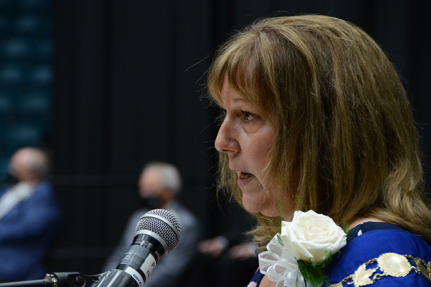 Mayor Kim Chamberlain announced new committees council will focus on in the coming year as her first official order of business as mayor during a special public meeting and swearing-in ceremony at the K.C. Irving Regional Centre June 14.